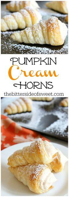 Pumpkin Cream Horns | The Bitter Side of Sweet #pumpkin