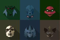 SuperHeroes Masks Flat (Set 11) by LogoCreator on @creativemarket #MartianManhunter #FallingSkies #TheVolm #Volm #MutantNinja #Turtles #Raphael #Raph #CaseyJones #shredder #Bebop #mask #Heroes #SuperHeroes #Marvel #DCComics #Comics #Flat #illustration #vector #MirageStudios #TMNT