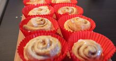 Mini Iced Cinnamon Rolls. easy to make using only 5 ingredients. great for sunday.
