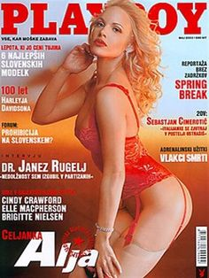 Playboy (Slovenia) May 2003  with Alja Klapšič on the cover of the magazine