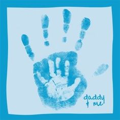"""Preschool Crafts for Kids*: Father's Day Handprint """"Daddy and Me"""" Craft    This is SOOOO sweet!!!  I love the white on blue. by mavrica"""