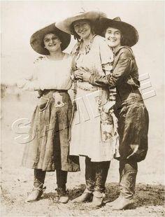 3 Antique Vintage Western Rodeo Pendleton Cowgirls Photo Canvas Art Large | eBay