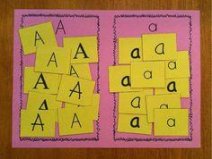 Literacy Letter Sorting Preschool Lesson Plan