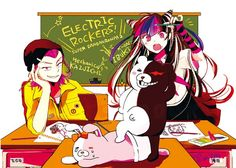 Mioda Ibuki and Souda Kazuichi.