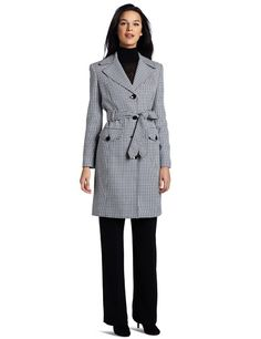 Evan Picone Women`s Houndstooth Trench Pant Suit $140.00