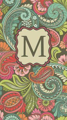 Floral background letter M Screen Wallpaper, Mobile Wallpaper, Wallpaper Backgrounds, Iphone Wallpaper, Monogram Wallpaper, Letter Art, Letters, Collage Background, Fantastic Art