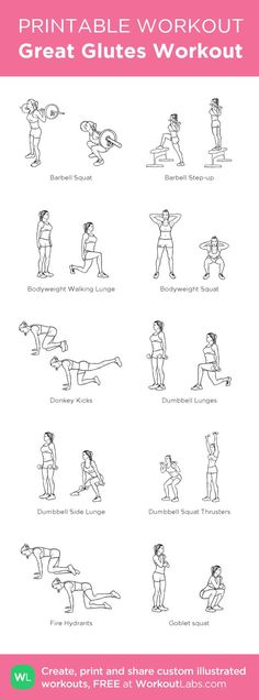 Great Glutes Workout: my custom printable workout by @WorkoutLabs #workoutlabs #customworkout: