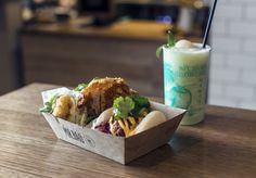 Bao buns with bar-food fillings on York Street.