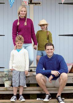 Family Sweaters in Hayfield Bonus Aran (9691) - Digital Version