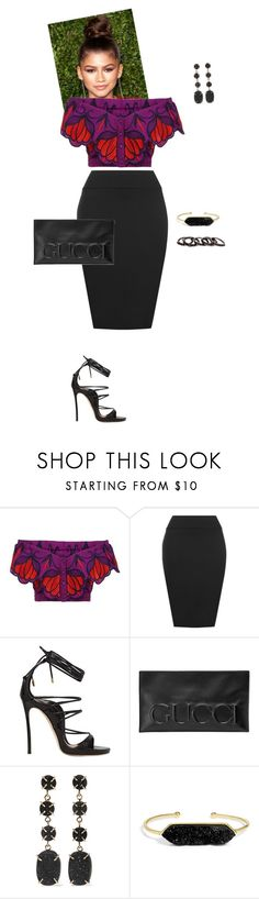 """""""Night On The Town"""" by foreverslayy ❤ liked on Polyvore featuring Alice McCall, WearAll, Dsquared2, Gucci, Melissa Joy Manning, BaubleBar and Free Press"""