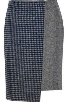 Suno Asymmetric wool-blend wrap-effect skirt   NET-A-PORTER $495. js