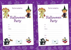 Invite your friends to your Halloween Party with these Pip Ahoy! Invites #Halloween #PipAhoy