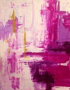 "Raspberry Rapture 48"" x 60"" www.lindacolletta.com"
