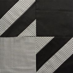 Elegant Houndstooth Block Tutorial | This popular print gets a quilting twist with this block tutorial!