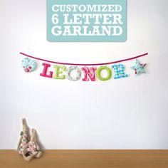 Customized Handmade Fabric Garlands 6 by Loveprettygarlands #felt #name #banner