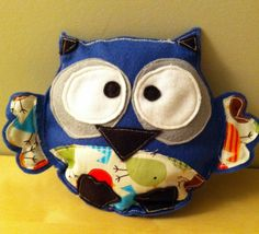 felt owl toy for kids    www.3littlerascals.etsy.com