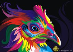 Wahyu Romdhoni, aka Weer, is a young artist from Indonesia. Despite his young age, he already has his own style. His vector illustrations of animals are incredibly colorful and dynamic. See more works on his DeviantArt and Shadowness. Colorful Animal Paintings, Abstract Animals, Colorful Animals, Images D'art, Animals Images, Wild Animals, Farm Animals, Oil Painting On Canvas, Canvas Art Prints