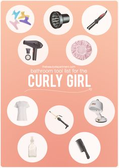 TBD curly girl tool list