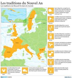 Les traditions du Nouvel An French Classroom, Spanish Classroom, Teaching French, Teaching Spanish, Learn Spanish, Religions Du Monde, New Years Eve Traditions, High School French, Spanish Holidays