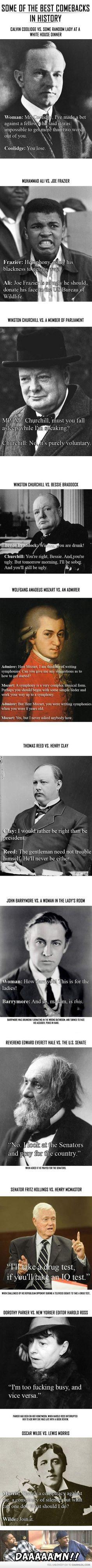 Historical comebacks..