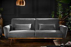 Luxusná rozkladacia sedačka šedá. Outdoor Sofa, Outdoor Furniture, Outdoor Decor, Couch Design, Love Seat, Modern, Retro, Interior, Couches