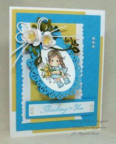 PJSDesigns: Folded Tag Spring Time Card