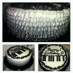 Ruffle Piano Cake