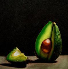 Lauren Pretorius Original Art Oil Painting Still Life Food AVO Slice | eBay