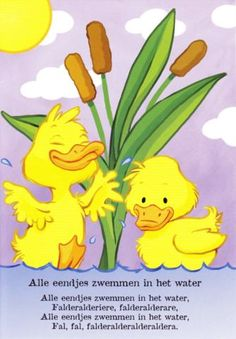 "Another wonderful children's song from my childhood: ""Alle eendjes zwemmen in het water""...."