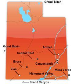 Utah National Parks Map Husband And Myself On Trip To Capital - Utah national parks map