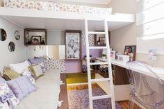 quarto infantil feminino com papel de parede com pequenas flores - Imagem para papel de parede