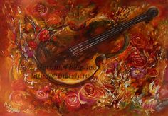 Digital print Still life with violin and roses Printout own print Instant Download by RussianArtdigital on Etsy