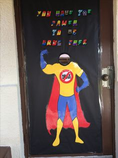 """Superhero with a mirror for a head. When kids stand in front of it, they see themselves. The caption says, """"You have the power to be drug free"""". Red Ribbon Week, Drug Free, Caption, Bullying, Drugs, Superhero, Mirror, Kids, Young Children"""
