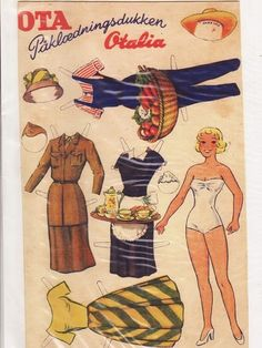 OTA Otalia paper doll Danish /   mosterlise.dk* 1500 free paper dolls at Arielle Gabriel's International Paper Doll Society for other paper doll Pinterest pals...*