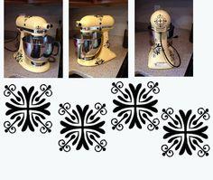 Kitchen Mixer Decal Fancy Flourish set. $9.00, via Etsy.