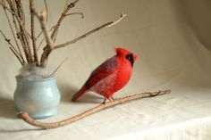 Felt toy Cardinal..... I will make this item for
