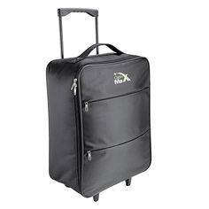 Cabin Max Stockholm Lightest Ripstop Cabin Approved Trolley Bag - 1.45kg 55x40x20cm 44l capacity (Black)