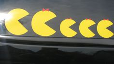 Pac Man Vintage Retro Car or Decal Family Set ... Now this I could do...
