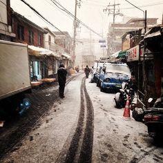 jang_jae_min / 눈눈눈눈눈이왔어요 #눈 / 서울 용산 한남 / #골목 #길 #놓아두기 / 2014 01 20 /