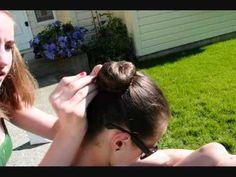 How to: Rhythmic Gymnastics hair tutorial [Basic hair bun.]