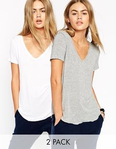 ASOS The New Forever T-Shirt 2 Pack Save 17%