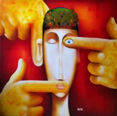 "Saatchi Art Artist christophe kro; Painting, ""The slave"" #art"
