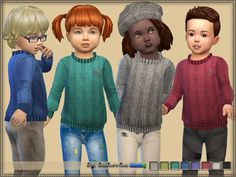 Knitted Sweater by bukovka at TSR • Sims 4 Updates