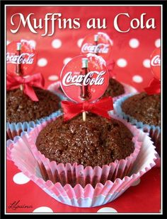 ♡ Coke & Pepsi ♡ - idée des piques coca sur le cupcake (pas muffins !!)