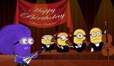 Una orquesta con una guitarra de rock, felicitaciones de cumpleaños ingeniosas como esta son las que consiguen hacer sonreír, cumpleaños feliz a todos. http://www.risadevideos.com/videos-felicitaciones-de-cumpleanos/