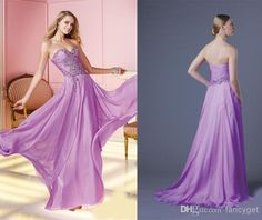 Cheap Evening Gowns - Discount Fashion Long Prom Dresses 2014 a Line Purple Online with $124.61/Piece | DHgate