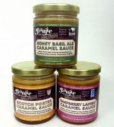 Beer-Kissed Caramel Sauce Trio