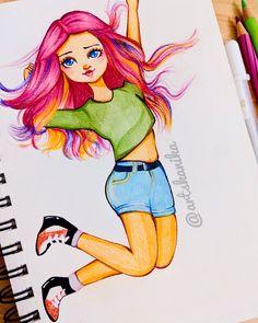 Coloured hair sketch sketching pencil sketch Hair Sketch, Coloured Hair, Disney Inspired, Fashion Sketches, Sketching, My Arts, Pencil, Princess Zelda, Manga