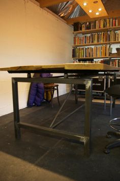 recycled steel table