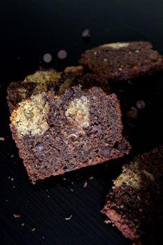 Peanut Butter Swirled Chocolate Zucchini Bread - Chocolate with Grace